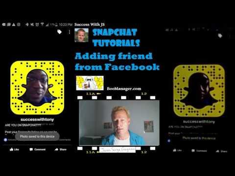 Snapchat Tutorials #6 - Adding friend from facebook