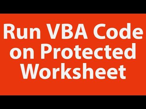 Run VBA Code on Protected Worksheet