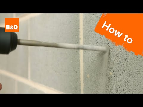 How to drill into walls