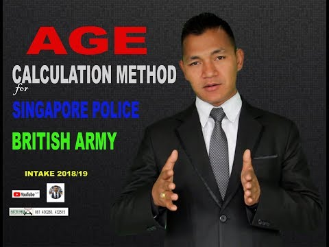 Age criteria for joining British Gurkha Army and Singapore Police Force