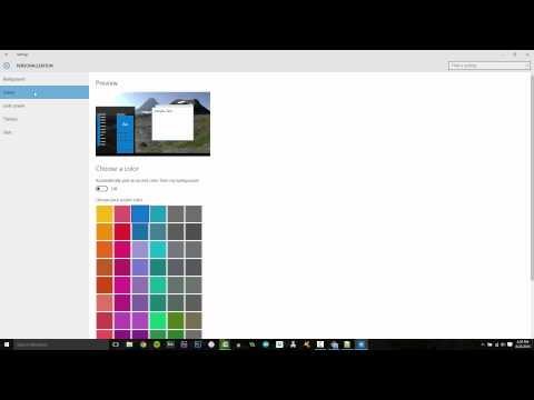 How to Change Windows 10 Theme Colors and Background Image