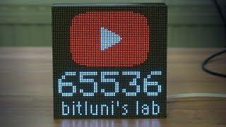 ESP8266 64x32 RBG Matrix Display