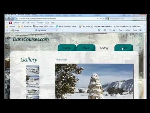 How to Build a Website in Flash CS5? - Part 22 (Adding Video)