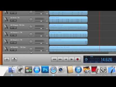 How to import Apple Loops into Garage Band and change pitch and tempo