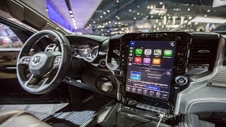 12-inch touch screen integrated in the dashboard supports both Apple CarPlay and Android Auto