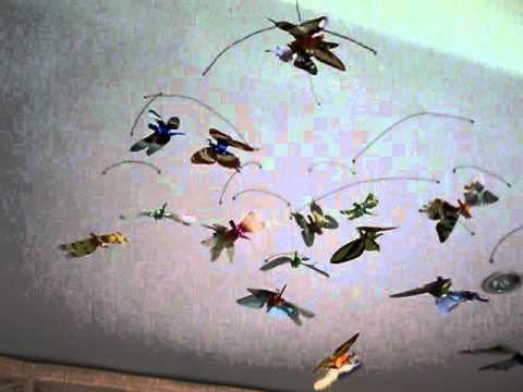 Origami-butterflies mobile