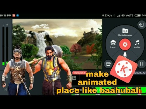 How to make animated place(like baahubali) and put inside you with kinemaster#kumar Tech #kinemaster