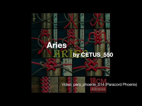 The Aries Knot Zodiac Paracord Bracelet by Cetus_550 4-Strand without buckle.