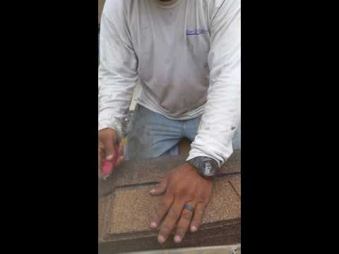 How to cut hip and ridge cap shingles
