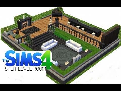 ►Sims 4 - How to make a SPLIT LEVEL ROOM