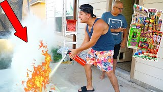 BLOWING UP HUSBANDS SNEAKERS ON FOURTH OF JULY PRANK!!