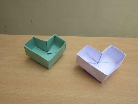 How to Make a Paper Otki Valentine's day Heart Box - Easy Tutorials