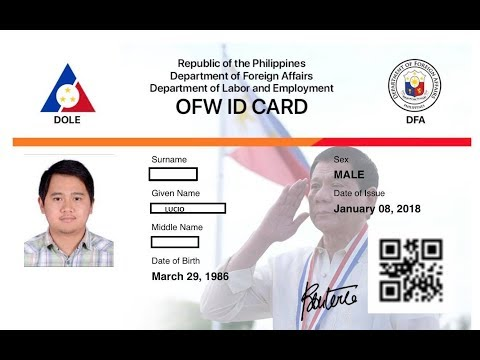 OFW ID ( When can we get IDOLE)