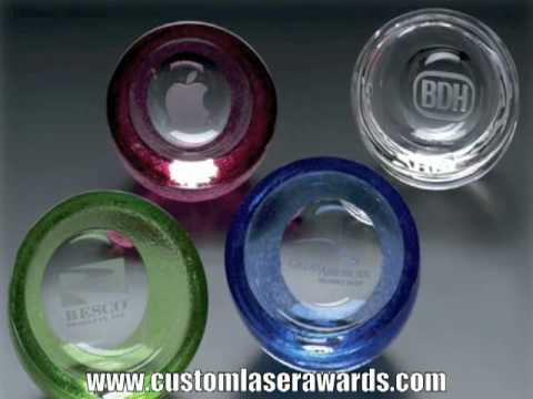 Any Shape Paperweight! Paperweights in Glass, Crystal, Acrylic | www.CustomLaserAwards.com