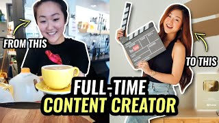 How to be a FULL TIME Content Creator (Things I WISH I Knew Before I Started...)