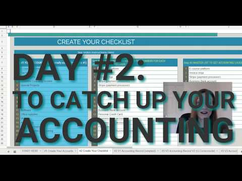 DAY #2 To Catch Up Your Accounting FAST in 6-Days [FREE SPREADSHEET TEMPLATE]