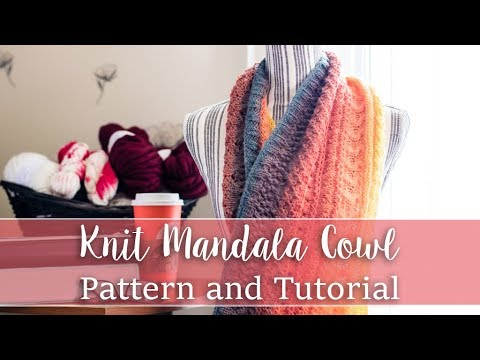 Knit Mandala Cowl  for the Lion Brand Mandala Yarn - With link to FREE pattern