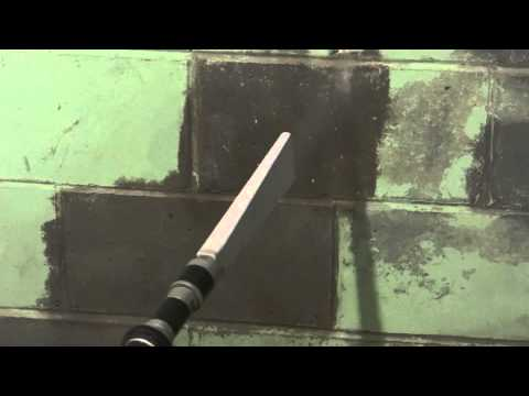 Dry Ice Cleaning of Black Mold and Paint off Concrete