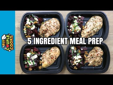 How to Meal Prep - Ep. 75 - Roast Chicken and Beet Salad ($3 Each/4 Meals)
