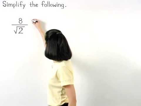 Dividing Square Roots | MathHelp.com