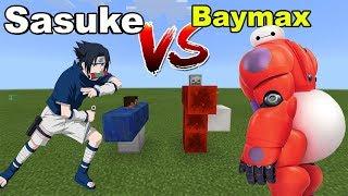 SASUKE vs BAYMAX | Minecraft PE