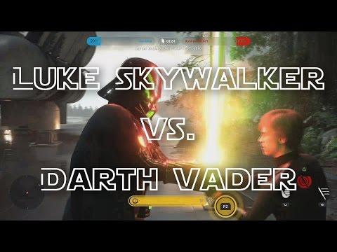 Darth Vader vs. Luke Skywalker! (Shane vs. Allan) - Star Wars Battlefront