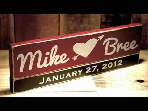 Unique Valentine s Day Gifts For Him or Her with Wooden Name Signs