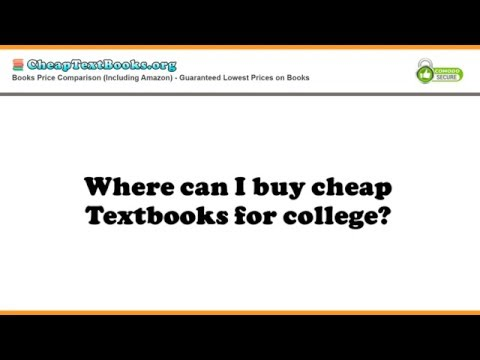 Where can I buy cheap textbooks for college?