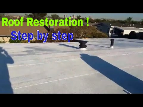 roof restoration DIY Video , how to restore an old , damaged roof, like new !