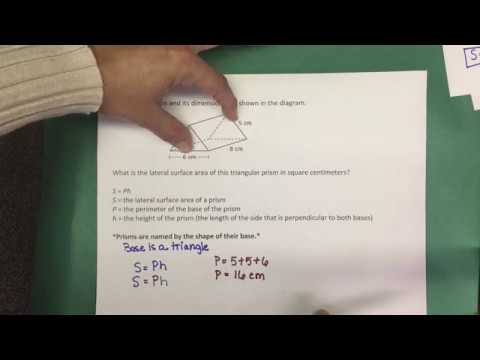 8.7B Lateral Surface Area of a Triangular Prism