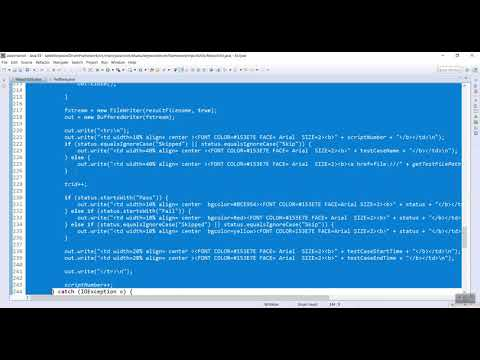 HTML Utility Code For Keyword Driven Framework Video-4