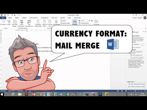 How to Apply Currency Format to a Mail Merge Field