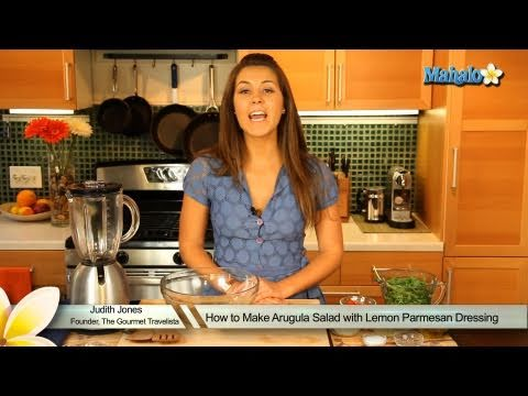 How to Make Arugula Salad with Lemon Parmesan Dressing