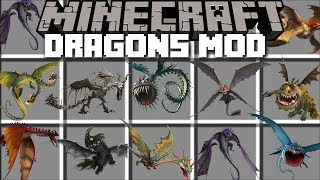 Minecraft DRAGON MOD / FIND OUT HOW TO TRAIN YOUR DRAGON ON BERK!! Minecraft