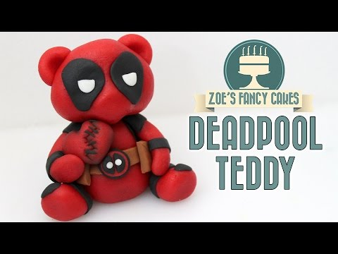 Deadpool teddy bear cake topper