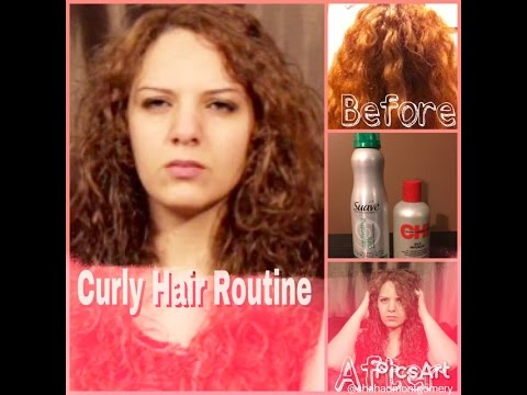 Curly Hair Routine with suave mousse