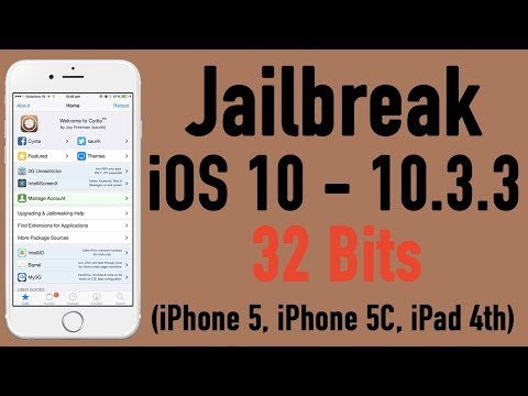 Comment Jailbreak COMPLET iOS 10 - 10.3.3 - 32 BITS (iPhone 5, iPhone 5C, iPad 4)