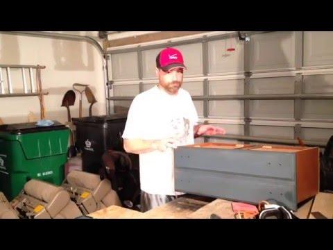 Making a flip front drawer