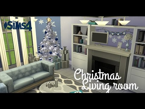Sims 4 Room Build - Freezing Chirstmas Living Room