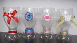 How to make a decorative cup with a recycled plastic bottle - Recycling - EP - simplekidscrafts