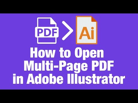 how to open a multipage pdf in illustrator