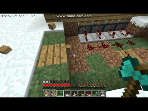how to make a automatic gate in minecraft