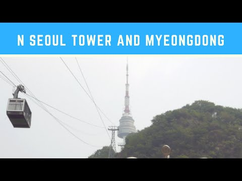 Traveling in Korea: N Seoul Tower and Myeongdong (N서울타워 & 명동)
