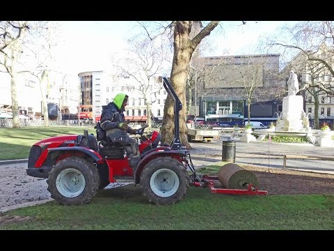 Grasslands Lay Turf with their Reverse Drive Tractor - Antonio Carraro TTR 4400
