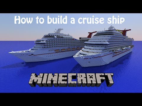 How to build a cruise ship in Minecraft! Part 2- Hull and Stern!