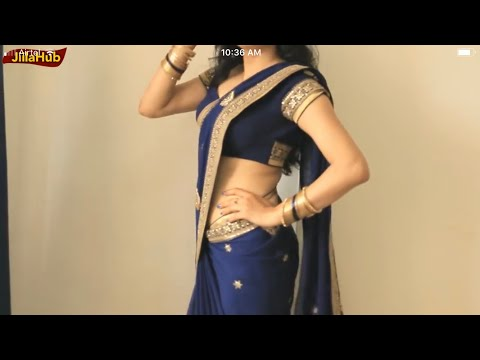 How To Wear A Saree Super Easy & Perfect Way:Sari Drape Step by Step In 2 Mints(JIILAHUB)