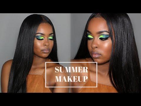 Summer Makeup Tutorial BROWN/DARK SKIN | PRIDE MONTH Inspired | Pitts Twins
