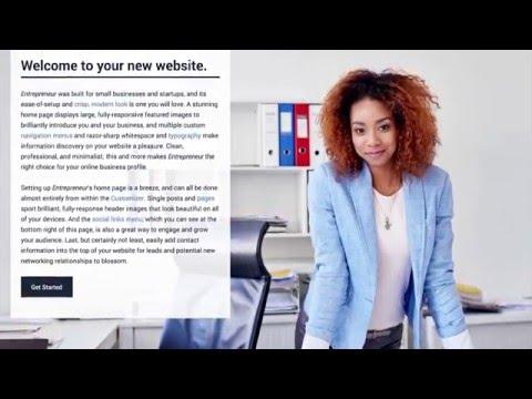 Entrepreneur WordPress Theme: Welcome to Entrepreneur