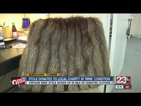 Charity finds mink coat in donated goods