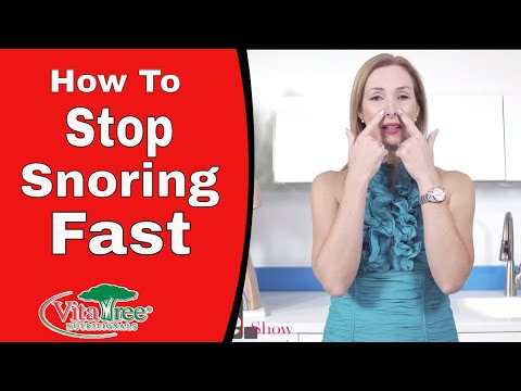 How to Stop Snoring Fast : Ways to Naturally Stop Snoring - VitaLife Show Episode 270